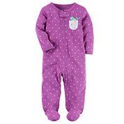 Carter's Girl Purple Dot Sleep-N-Play
