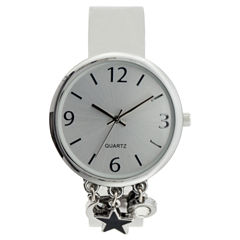 Mixit Womens Silver Tone Bangle Watch-Jcp2978st