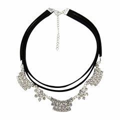 Vieste Rosa Silver Over Brass Choker Necklace
