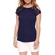 St. John's Bay Short Sleeve Knit Blouse