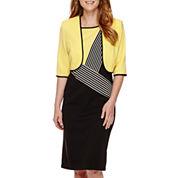Maya Brooke Colorblock Jacket Dress
