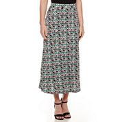 Black Label by Evan-Picone Print Maxi Skirt