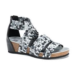 Muk Luks Elle Womens Wedge Sandals