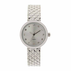 Mixit Womens Silver Tone Bangle Watch-Jcp2974st