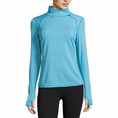Xersion Long Sleeve Mock Neck T-Shirt-Talls