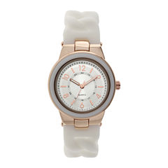 Womens White Braid Strap Watch