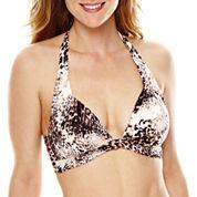 Liz Claiborne® Animal Instincts Pushup Halter Swim Top - Misses