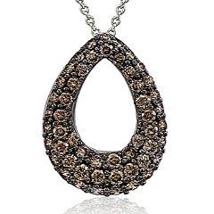 LIMITED QUANTITIES Le Vian Grand Sample Sale 1 CT. T.W. Chocolate Diamond Teardrop Pendant Necklace