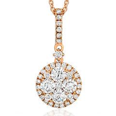 LIMITED QUANTITIES Le Vian Grand Sample Sale 5/8 CT. T.W. Diamond 14K Rose Gold Drop Pendant Necklace