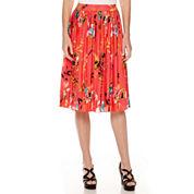 Liz Claiborne® Midi Pleated Print Skirt - Tall