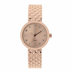 Mixit Womens Rose Goldtone Bangle Watch-Jcp2974rg