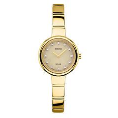 Seiko Womens Gold Tone Bangle Watch-Sup366