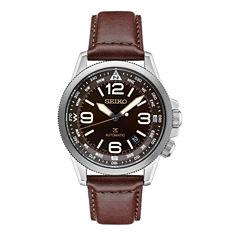 Seiko Prospex Mens Brown Strap Watch-Srpa95