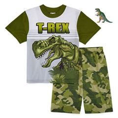 2-pc.T-REX Short Sleeve-Big Kid Boys
