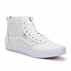 Vans Milton Hi Top Perforated Leather Womens Sneakers