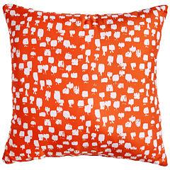 Scribble Paint Brush Orange Throw Pillow