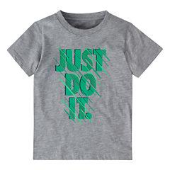 Nike Short-Sleeve Cotton T-Shirt - Preschool Boys 4-7