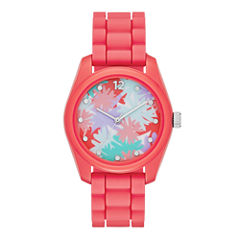Womens Floral Dial Watch