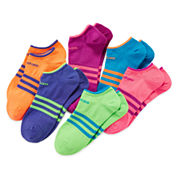 adidas® 6-pk. Superlite No-Show Socks - Girls