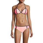 Arizona Colorblock Pushup Triangle Swim Top or Hipster Swim Bottoms - Juniors