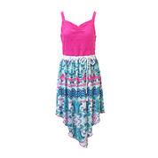 Lilt Sleeveless Sharkbite Hem Dress - Girls 7-16