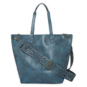 T-Shirt & Jeans Laser Cut Strap Tote Bag