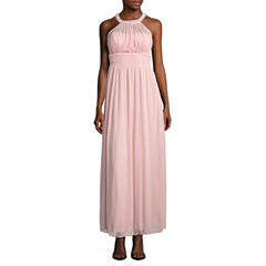 Speechless Sleeveless Beaded Evening Gown-Juniors