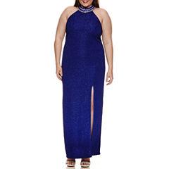 Social Code Sleeveless Evening Gown-Juniors Plus