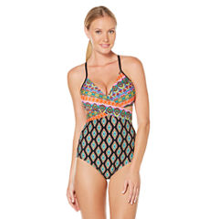 Coastal Zone By Jantzen Diamond One Piece Swimsuit