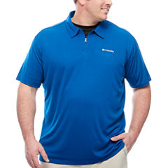 Columbia Sportswear Co. Short Sleeve Solid Knit Polo Shirt Big and Tall