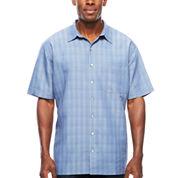 Van Heusen Short Sleeve Rayon Polyester Shirt- Big & Tall