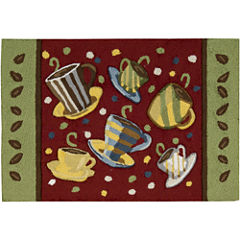 Nourison® Coffee Mugs Washable Rectangular Rug