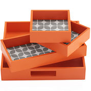 Intelligent Design Elena 4-pc. Geometric Decorative Tray Set