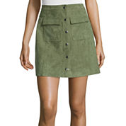 I 'Heart' Ronson Faux-Suede Military Skirt