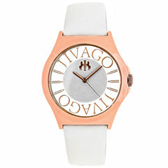 Jivago Womens White Strap Watch-Jv8434