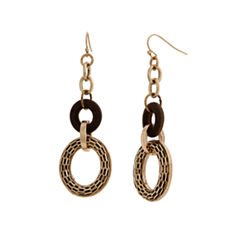 EL by Erica Lyons El By Erica Lyons Gold Over Brass Drop Earrings