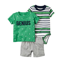Carter's Boys 3-pc. Short Sleeve Short Set