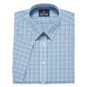 Stafford Travel Easy-Care Broadcloth Short Sleeve Dress Shirt