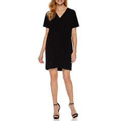 Worthington Short Sleeve Shift Dress