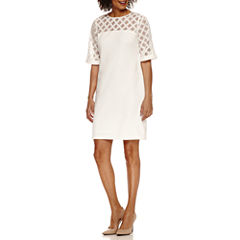 Studio 1 Short Sleeve Sheath Dress