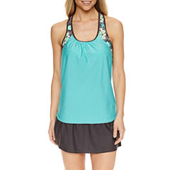ZeroXposur® Medallion Tankini Swimsuit Top or Knit Skirt