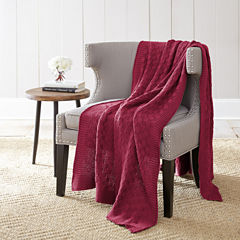 Pacific Coast Textiles Cotton Knit Diamon Throw