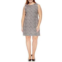 Worthington® Sleeveless Seamed Shift Dress - Plus