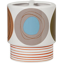 Creative Bath™ Dot Swirl Ceramic Toothbrush Holder