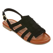 Arizona Fran Girls Fringe Sandals - Little Kids