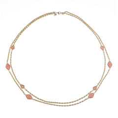 Monet Jewelry Womens Pink Strand Necklace
