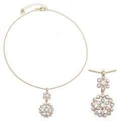 Monet Jewelry White Pendant