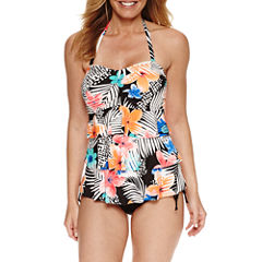 Pure Paradise Bra Sized Floral Tankini Swimsuit Top