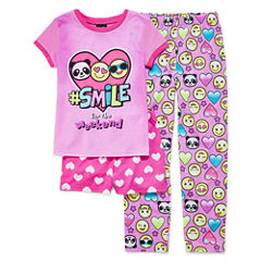 Jelli Fish Kids 3-pc. Pajama Set Girls