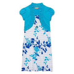 Speechless Short Sleeve Fit & Flare Dress - Big Kid Girls
